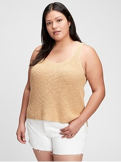 Scoopneck Tank Sweater