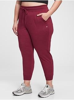 Pantalon de jogging court GapFit en jersey brossé techno