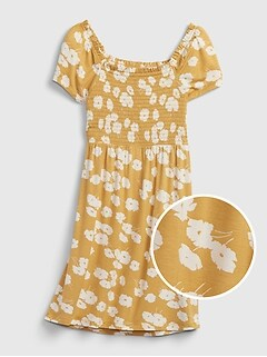 Kids Print Smocked Dress