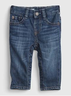 Baby 100% Organic Cotton Pull-On Slim Jeans