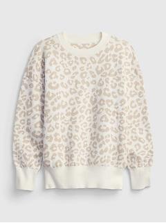 Kids Print Crewneck Sweater