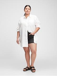 Oversized Linen Tunic Shirt