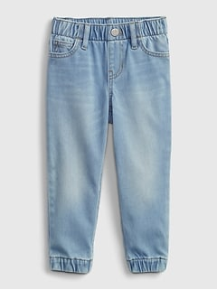 Toddler Pull-On Denim Joggers with Washwell ™