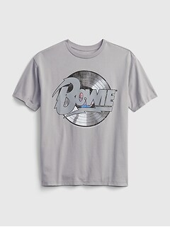 Teen | David Bowie Recycled Polyester Graphic T-Shirt