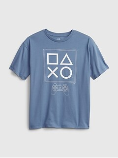 Teen | PlayStation Controller Graphic Recycled Polyester Graphic T-Shirt