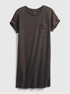 Teen 100% Organic Cotton Oversized T-Shirt Dress