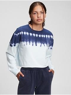 Teen Cropped Cut-Off Crewneck Sweatshirt