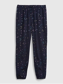Kids 100% Recycled Polyester Print PJ Joggers