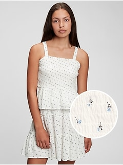 Teen 100% Organic Cotton Smocked Tank Top
