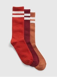 Kids Organic Cotton Crew Socks (3-Pack)