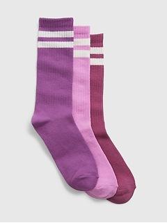 Organic Cotton Crew Socks (3-Pack)