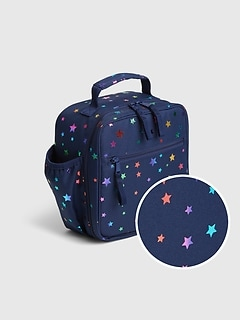 Kids Recycled Polyester Star Print Lunchbag