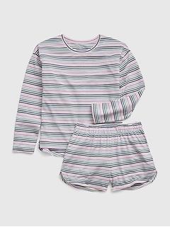 Kids 100% Recycled Polyester Stripe PJ Set