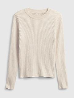 Kids Ribbed Crewneck Sweater