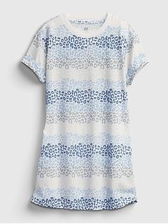Kids 100% Recycled Polyester Animal Print PJ Dress