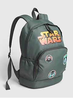 GapKids $#124 Star Wars™ Patch Graphic Recycled Polyester Senior Backpack