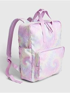 Kids Recycled Polyester Tie-Dye Print Senior Backpack