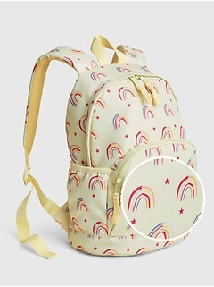 Kids Recycled Polyester Rainbow Graphic Junior Backpack