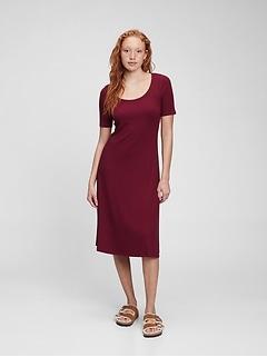 LENZING™ ECOVERO™ Ribbed Midi Dress