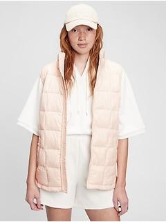 100% Recycled Nylon Lightweight Puffer Vest