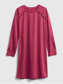 Kids 100% Recycled Polyester Polka Dot Nightgown