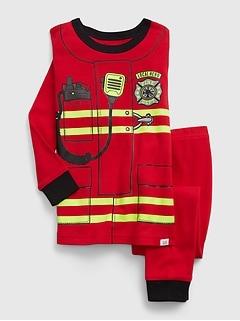 babyGap 100% Organic Cotton Firefighter Graphic PJ Set