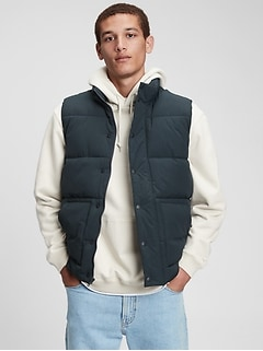 100% Recycled Nylon Puffer Vest
