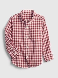 Toddler Print Poplin Shirt
