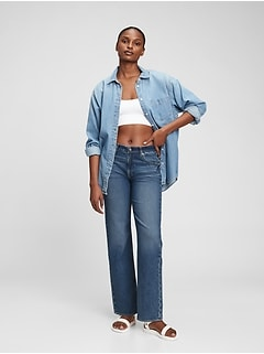 Mid Rise Organic Cotton '90s Loose Jeans with Washwell™