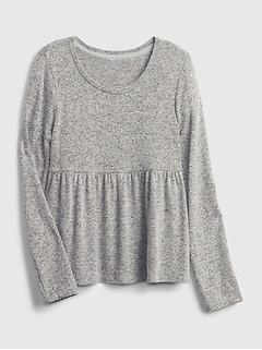 Kids Softspun Peplum T-Shirt