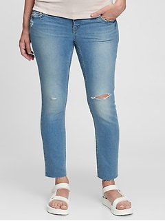 Maternity True Waistband Full Panel Vintage Slim Jeans with Washwell™