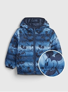 babyGap   Disney Mickey Mouse 100% Recycled Polyester ColdControl  Puffer Jacket