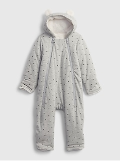 Baby Hoodie Sherpa-Lined One-Piece