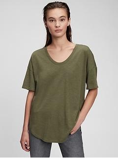 Slub U-Neck T-Shirt