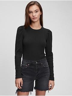 Puff-Sleeve Bodysuit