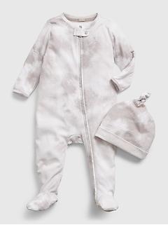 Une-pièce 100% coton biologique teint par nœuds pour Bébé