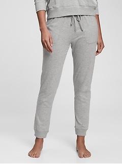 Pantalons de jogging en coton ouaté léger