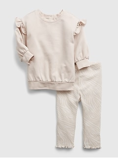 Baby Ruffle Tunic Outfit Set