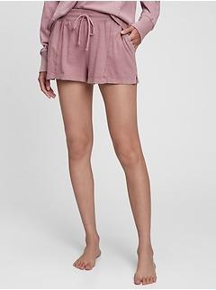 Shorts en coton ouaté léger