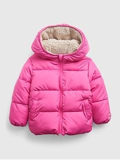 Toddler Reversible ColdControl Max Sherpa Puffer Jacket