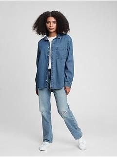 Teen Oversized Denim Shirt