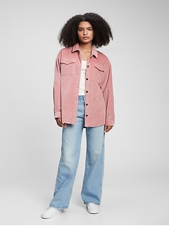 Teen Oversized Corduroy Shirt