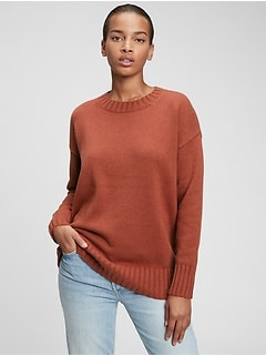 Relaxed Cotton Tunic Sweater