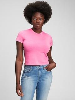 T-shirt rétréci à imprimé