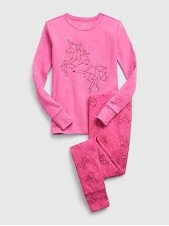 Kids 100% Organic Cotton Unicorn Constellations PJ Set