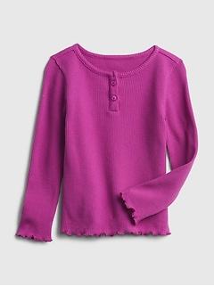 Toddler Henley Waffle-Knit T-Shirt
