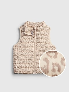 Toddler 100% Recycled Polyester ColdControl Print Puffer Vest