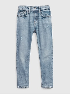 Kids Distressed Easy Taper Jeans with Washwell™
