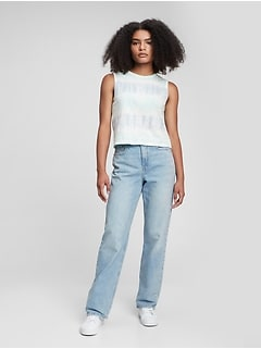 Teen Sky-High Rise 90's Loose Jeans with Washwell™