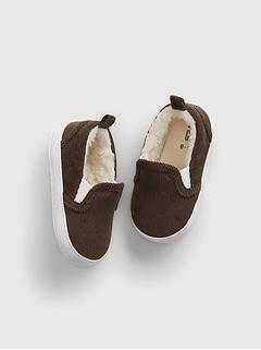 Baby Corduroy Sherpa Slip-On Shoes